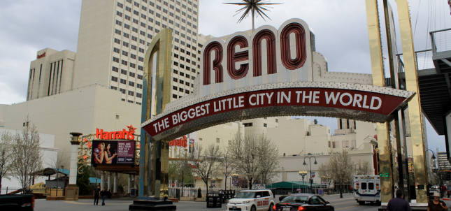 Reno city sign
