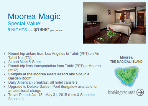 Moorea vacation deal screenshot