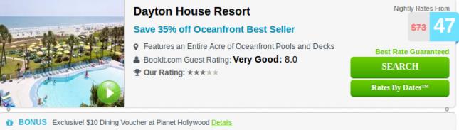 Dayton House Resort hotel deal screenshot