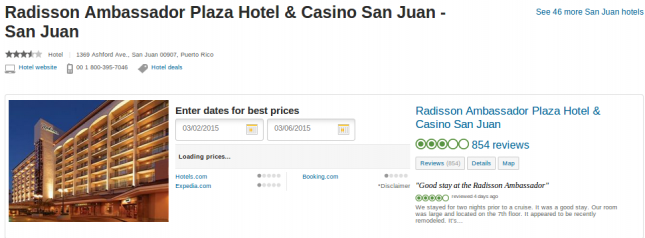 Radisson Ambassador Plaza Hotel and Casino - San Juan deal