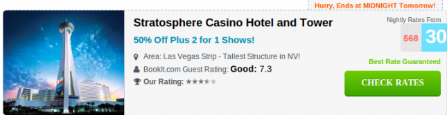 Stratosphere Hotel and casino deal screenshot