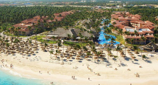 Beach view at Majestic Colonial Punta Cana
