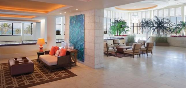 The lobby of Melia Nassau Beach Resort