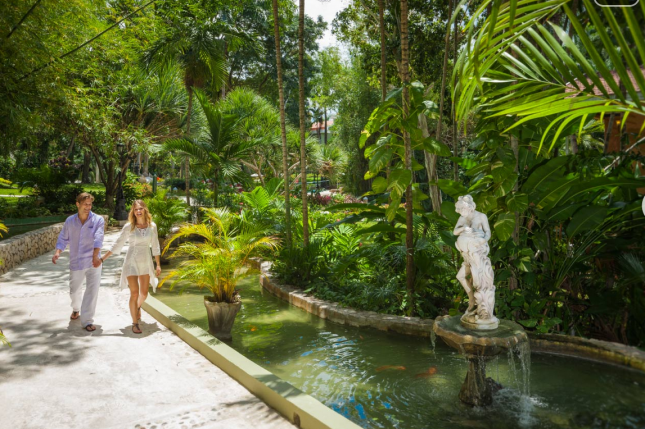 Tropical garden at Sandals Grande Riviera