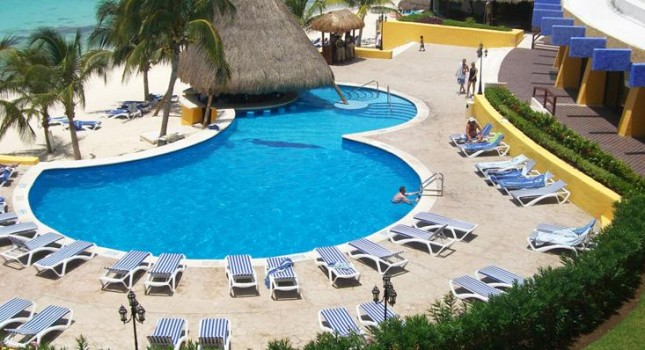 Pool view at Melia Vacation Club Cozumel