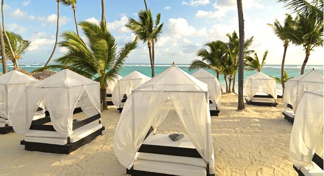 Ocean Blue and Sand - beach lounges