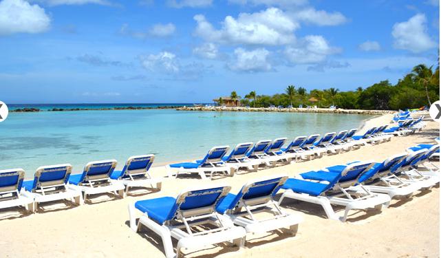 Beach view at Renaissance Aruba Resort