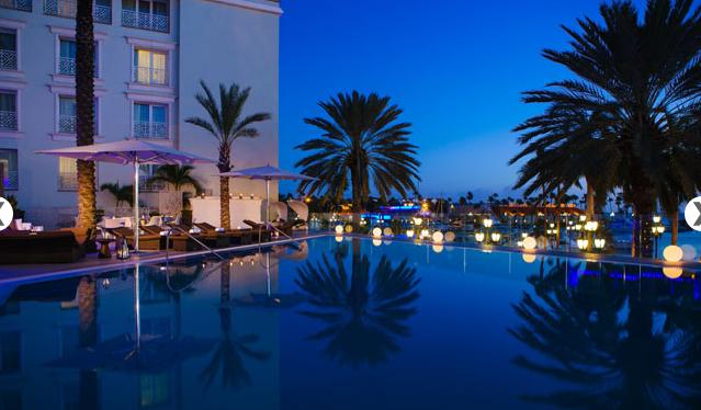 Pool view at Renaissance Aruba Resort
