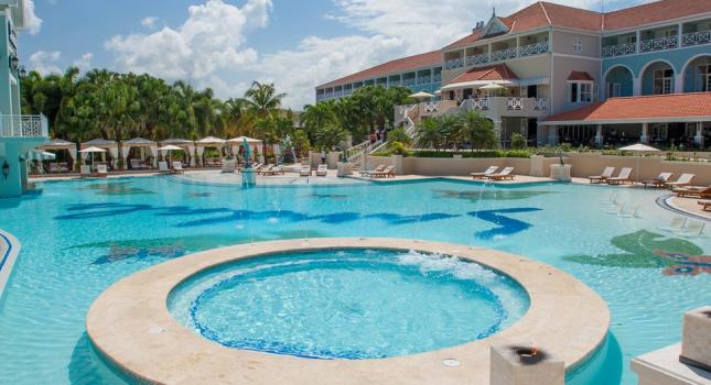Pool view at Sandals Ochi Beach Resort