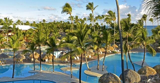 Pool view at Iberostar Dominicana Hotel