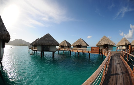 Over water bungalows at Le Meridien