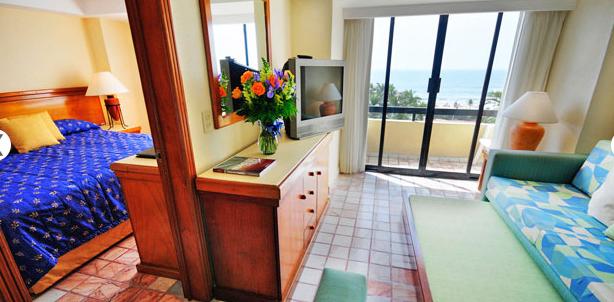 Ocean view suite at Ocean Breeze Hotel Mazatlan