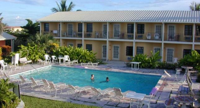 The pool at Orange Hill Beach Inn