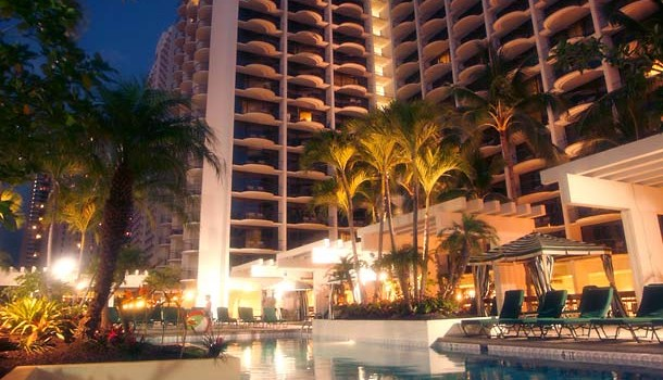 Pool view at Marriott Beach Resort