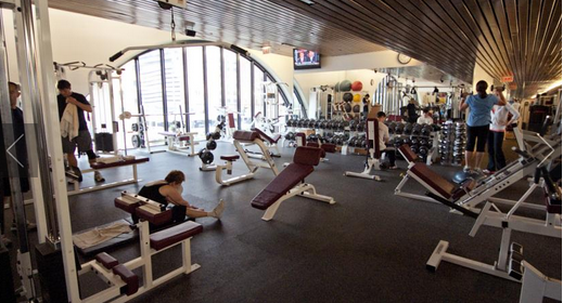 Fitness center at The Buckingham Athletic Club Hotel