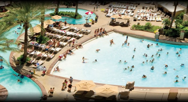 Pool complex at Monte Carlo Resort