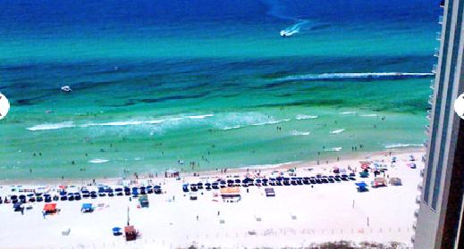 The beach at the Shores of Panama Resort