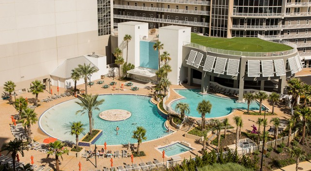 Pool complex at Laketown Wharf Resort