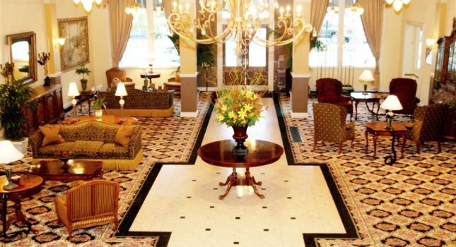 Lobby at The Peery Hotel