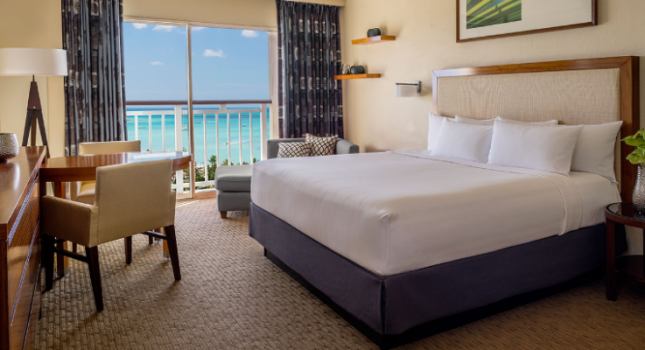 Ocean view room at Hyatt Regency Aruba Resort