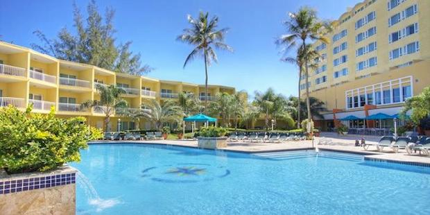 Pool view at Verdanza Hotel in Puerto Rico