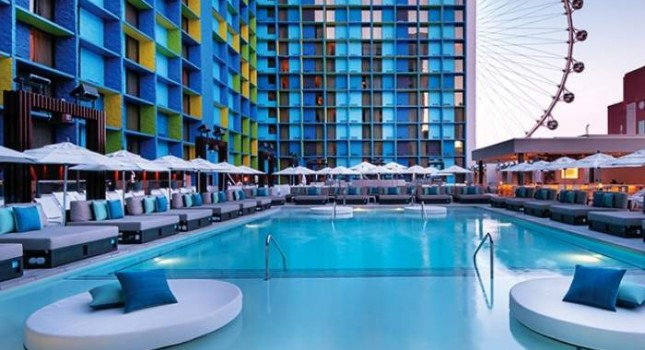 Outdoor pool at The LINQ Hotel and Casino