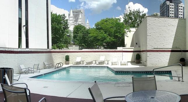 Pool area at Salt Lake Plaza Hotel
