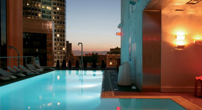 Rooftop pool at The Standard Downtown LA