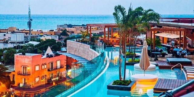 Pool view at Thompson Playa del Carmen