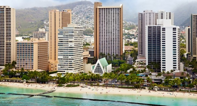 Hilton Waikiki Beach Hotel on Oahu Island