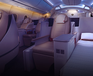 Business class on a major airline